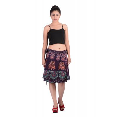 Uttam Rayon Printed Brown  Color Short Skirt