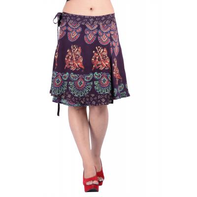 Uttam Rayon Printed Brown  Color Short Skirt 1