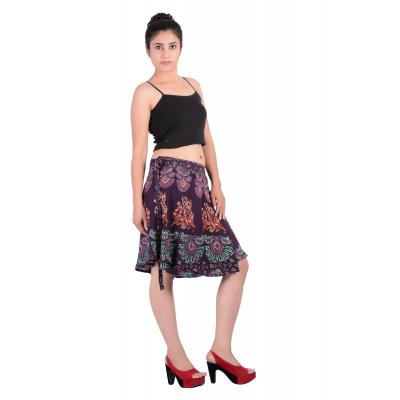 Uttam Rayon Printed Brown  Color Short Skirt 2