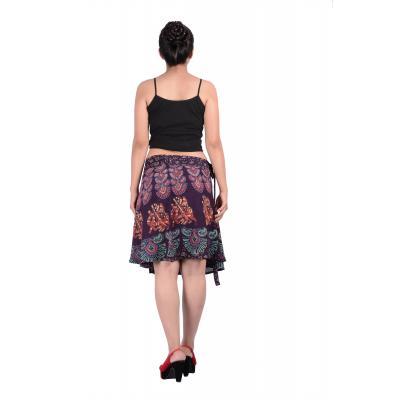Uttam Rayon Printed Brown  Color Short Skirt 3