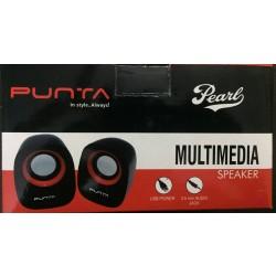 Punta Pearl 6 W Black & Orange 2.0 Channel Wired Desktop / Laptop Speaker 3