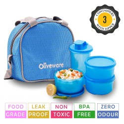 Oliveware Imperial Lunch Box - 3 Containers with Tumbler 1