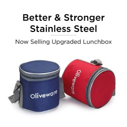 Oliveware Lovely Stylo Lunch Box | Stainless Steel Containers 2