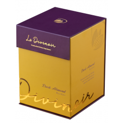Le Divinoir Pure Dark Chocolate Almond Roches, 275g (24 Pieces) - Single-Origin Dark Chocolate with 45% Cocoa and 72 Whole Roasted California Almonds.