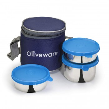 Oliveware Lovely Stylo Lunch Box | Stainless Steel Containers
