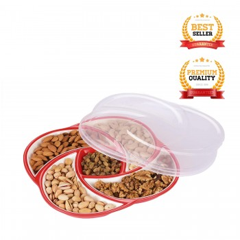 Oliveware Plastic Dry Fruit Candy Container - Red 2